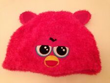 Furby Bright Pink Furry Winters Hat VGC Age Approx 7 - 9 Years, Hasbro Official
