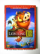 Disney The Lion King 1.5 1 1/2 DVD Blu Blu-ray Combo Pack DVD/Blu-ray BRAND NEW