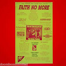 Faith No More 1990 Original Concert Promo Poster. Portland Or. Mint!