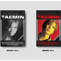 Shinee Taemin-[Want]2nd Mini Album Kihno Random Kit+VersionCard+PhotoCard+Gift