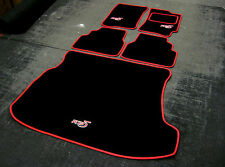 Black/Red SV Car Mats - Subaru Impreza Classic (92-00) + RB5 Logos + Boot Mat