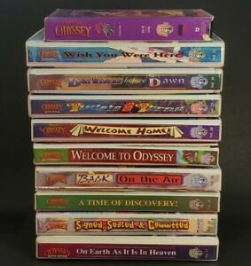 Lot of 10 Adventures in Odyssey 50 Audio Series Cassettes 1 VHS Christian Bible