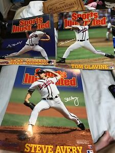 1993 Sports Illustrated Lot of 3 Braves Posters Glavine, Maddux, Avery 16 X 20