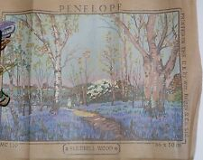 "New Needlepoint Canvas PENELOPE ""Bluebell Wood"", Made in England"