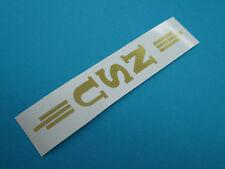 NSU Logo Schriftzug vertikal Oldtimer Aufkleber  Abziehbild  Gold
