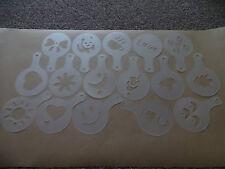 16 Piece set Cappuccino Coffee Barista Stencils Template Pad Duster Spray Tools