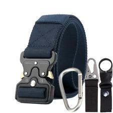 4PCS Adjustable Men Military Belt Buckle Combat Waistband Tactical Rescue Rigger