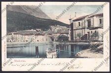 BRESCIA TOSCOLANO MADERNO 09 LAGO di GARDA Cartolina VIAGGIATA 1901