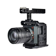 """Aluminum Video Camera Cage Stabilizer With Handle for Z CAM E2 S6 F6 F8 1/4 3/8"""""""