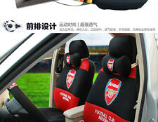 ON SALE# Football Arsenal Car Seat Covers Accessories Set 18PCS