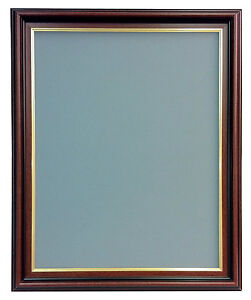 Sandhurst Mahogany Photo Frame with Backing Board in Various Colours and Sizes