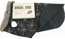 Ultra Paws DOGA Tog Dog Coat Small Black Starry Fleece Jacket Double Layer