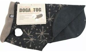 "Ultra Paws ""Doga Tog"" Dog Coat Size XL Black Starry Fleece Jacket Soft Winter"
