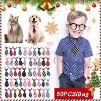 50pcs/kit Pet Dog Cat Adjustable Grooming Necktie Bow Tie Collar children Kid