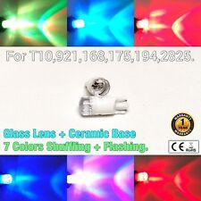 T10 W5W 194 168 2825 12961 Reverse Backup Light Rainbow Green Blue LED Bulb M1 A