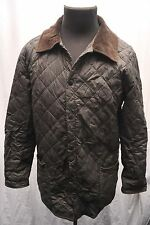 BARBOUR LIDDLESDALE QUILTED JACKET MEDIUM BROWN SHOOTING / HUNTING FX94