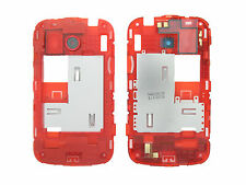 Genuine HTC Desire C Red Middle Cover / Chassis Black Camera Ring - 74H02228-02M