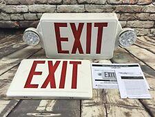 Lithonia Lighting 2 Light Plastic Led White Exit Signemergency Combo Open Box