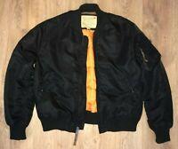Alpha Industries womens black flight bomber jacket size XL