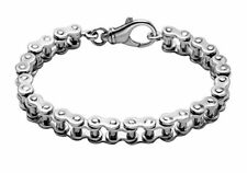 "Sterling Silver Bike Chain 9"" Bracelet - BR157"