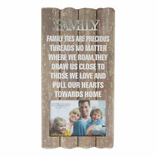 Family Photo Frame With Plaque and Sentiment Gift 61743