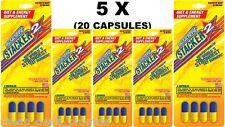 Stacker 2 Diet Energy Metabolizing Fat Burner 4 CT (Lot 5 X CARDS) = 20 CAPSULES