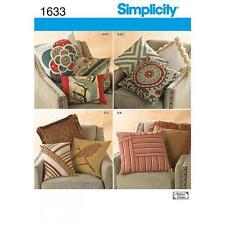SIMPLICITY COUTURE MOTIF Décoratif Oreillers HOUSSES DE COUSSIN 1633