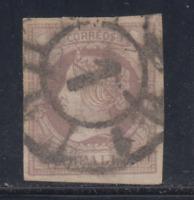 ESPAÑA (1860/61) USADO SPAIN - EDIFIL 56 (2 r) ISABEL II (LOTE 3)