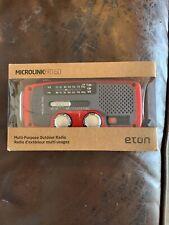 Eton Microlink FR160 Emergency Radio American Red Cross Solar/Cranked Power-NIB