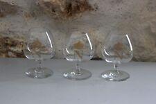 Série de 3 verres à liqueur - COGNAC - Napoléon - Liseré Or