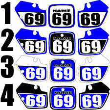 1991-1992 Yamaha YZ125 YZ 125 Number Plates Side Panels Graphics Decal