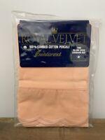 1 Vintage Royal Velvet Percale Pillowcase Coral Scalloped Edge 1 Indivudual NOS