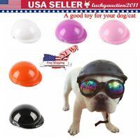 Pet Dog Ridding Caps Helmet ABS Plastic Doggie Puppy Bike Motorcycle Cosplay Hat