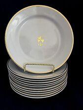 "Antique Bishop Stonier England White Ironstone salad Plate 8 1/4"", 19th century"