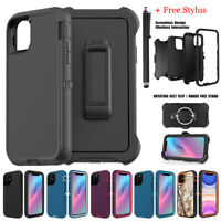 For iPhone 11 Pro Max Case Heavy Duty Shockproof Rugged Full Cover w/ Belt Clip