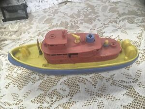 Vintage 1950's? Renwal Plastic Toy Fire Fighter Boat No.156— R A R E!— L O O K!