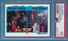 1991 Hoops - MICHAEL JORDAN & K. Malone Scoring Leaders Card #306 - PSA 9 MINT
