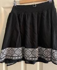 Women's Old Navy Smocked Elastic Waist Black Skirt, Size Large