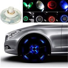 4pcs Car Bike Motorcycle LED Flash Solar Wheel Tire Tyre Valve Cap Light 4