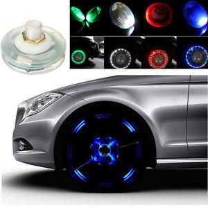 4pcs Car Bike Motorcycle LED Flash Solar Wheel Tire Tyre Valve Cap Light 4  N K