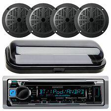 200W KMRD356 Outdoor Marine Boat CD MP3 USB iPod iPhone Stereo 4 Speakers /Cover