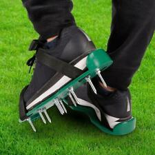 30 x 13cm Spikes Pair Lawn Garden Grass Aerator Aerating Shoes Sandals new