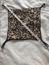 Small Animal Hammock Leopard Print. Extra Cushy Material. 15x12-1/2� Thick.