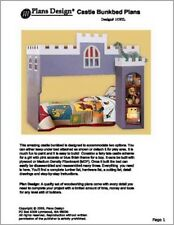 Castle Loft / Bunk Twin Bed Furniture Woodworking Plans on Paper