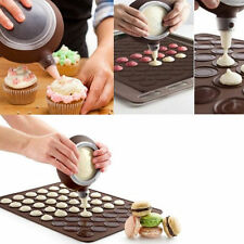 Silicone Macaron  Pastry Cake Cookies Muffin Oven Baking Sheet Mat Mould hcuk