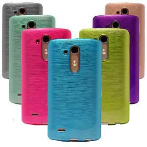 LG L Fino Silikon Gel Handyhülle Schutzhülle Case Cover Tasche Hülle Metallic