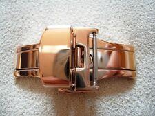 POUR BRACELET 24mm BOUCLE DEPLOYANTE PAPILLON 22 mm PLAQUEE OR ROSE A POUSSOIRS