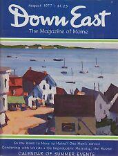 Down East Maine Magazine 1977 August East Boothbay/Cutler/Portland/Tourmaline