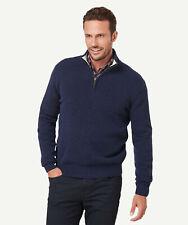 GAZMAN Men's Wool Blend 1/2 Zip Knit Ink