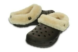 Classic Crocs Fluffy Mammoth Luxe Espresso Brown Clog